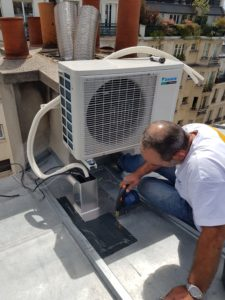 Installation Climatisation sur toit