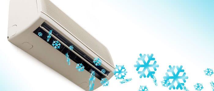 diffusion de l'air par un climatisateur